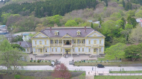 Former Hakodate public hall aerial shoot Live Action
