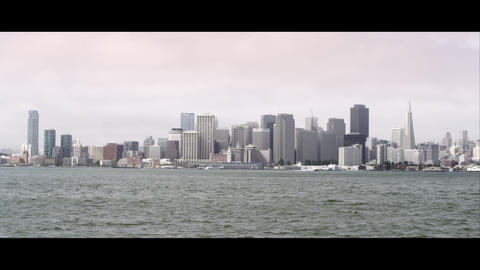 Static shot of San Francisco city from across the bay Footage