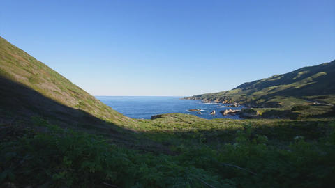 Dolly Shot retreat in a Big Sur timelapse Footage