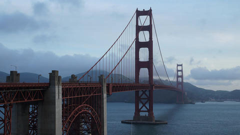 Time lapse of Golden Gate Bridge and bay Footage