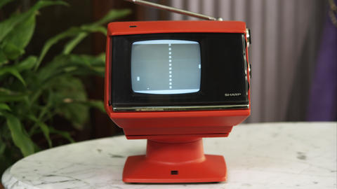 Retro TV with Pong being played on the screen Footage