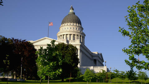 Static shot of the Utah State Capitol building Live Action