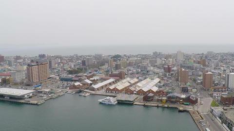 Hakodate bay aerial shoot Footage