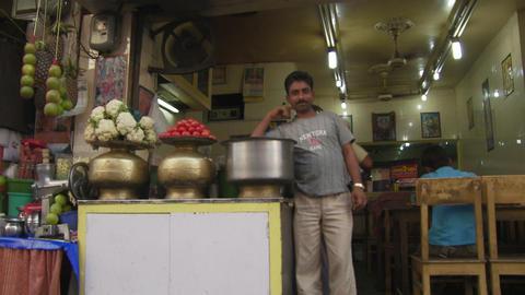 India street cafe Footage