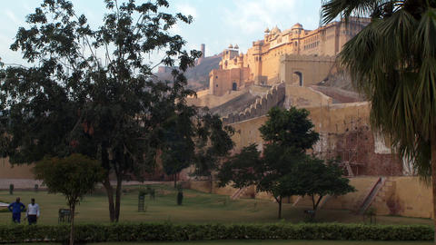 The amber fort from a distance Footage