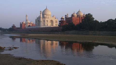 Taj Mahal reflection Footage