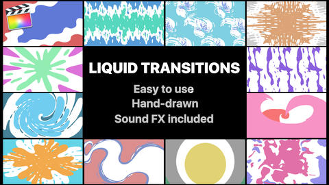 Liquid Transitions Pack Apple Motion Template