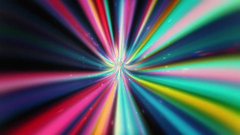 Fast-Moving Multicolored Tunnel Animation