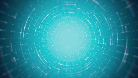 Futuristic Rotating Circular Lines on Cyan Background Animation