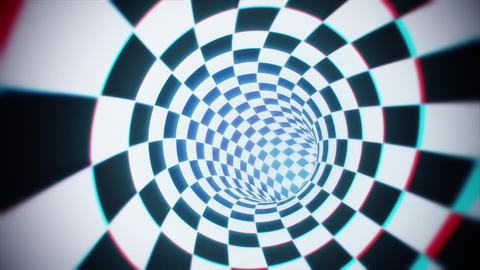 Rotating Hypnotic Checkered Tunnel Animation