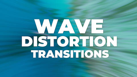 Wave Distortion Transitions Premiere Pro Template