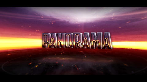 Panoramic Landscape Logo After Effects Template