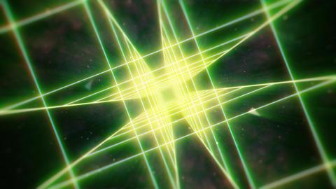 Neon Green Rotating Retro Tunnel Animación