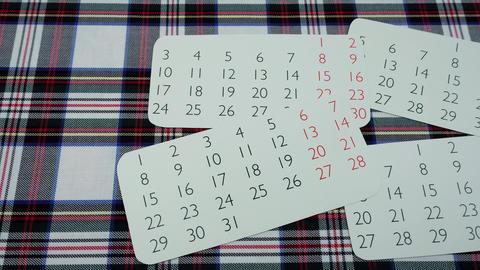 Calendars on fabrics Archivo