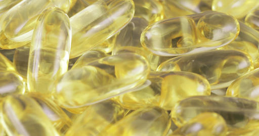 Fish oil in capsules Footage