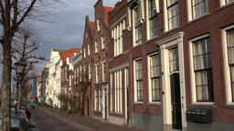 Netherlands South Holland Rotterdam row of Dutch houses in Delfshaven GIF