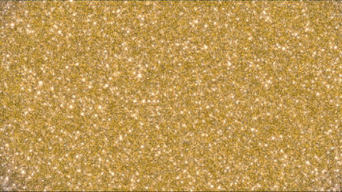 Golden glitter background and sparkles animation 4k Archivo