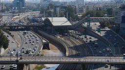 Traffic on Tel Aviv Ayalon routes Footage