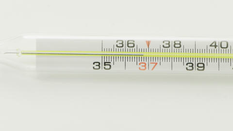 Traditional medical thermometer Live Action