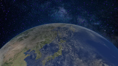 Earth and the Milky Way Animation