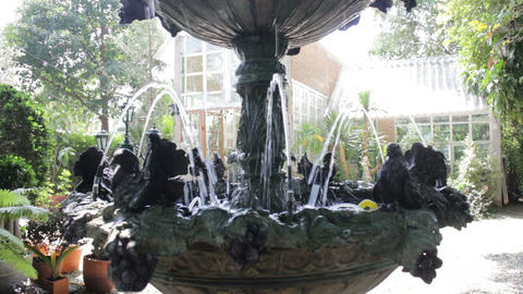 The fountain in summer outdoors garden Footage