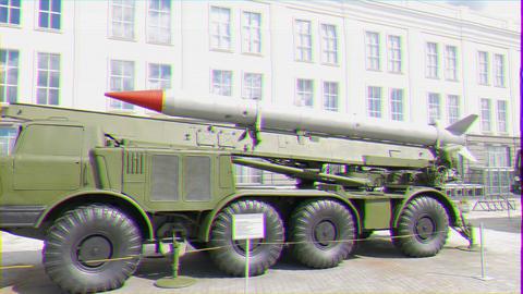 Glitch effect. Luna M (missile system). Pyshma, Ekaterinburg, Russia ビデオ
