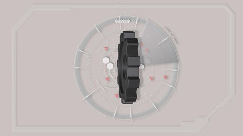 Grey Abstract Tech Hud Interface Gear Animation Animation