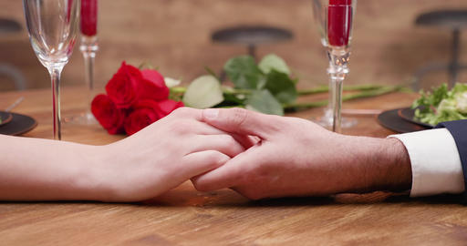 Young couples hands touching with affection and care Stock Video Footage