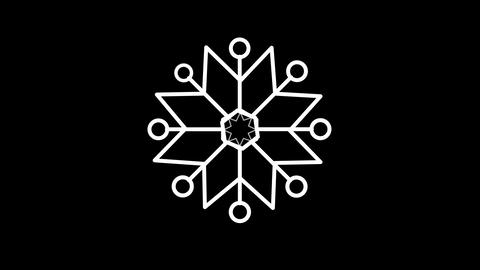 Snowflake weather forecast line icon on the Alpha Channel Animation
