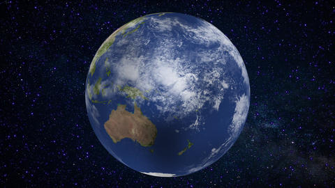 Milky Way and sparkling Earth Animation
