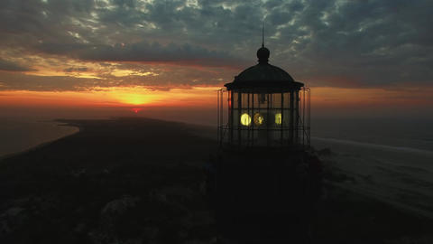 Sunrise At The Lighthouse By Drone 0