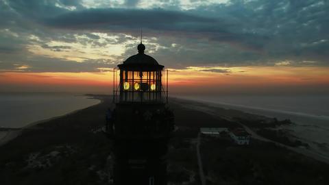 Sunrise At The Lighthouse By Drone 1