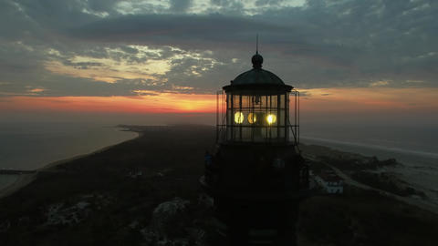 Sunrise At The Lighthouse By Drone 2