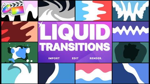 Liquid Transitions Apple Motion Template