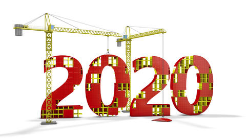 Tower cranes building 2020 Animation