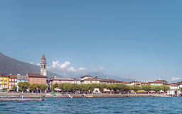 Panorama of Ascona from the waters of Lake Maggiore Fotografía