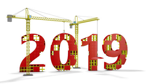 Tower cranes building 2019 Animation