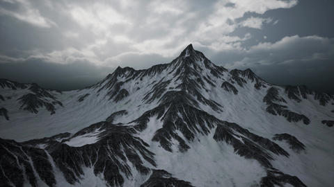 High Altitude Peaks and Clouds Footage