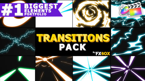 Handy Electric Transitions Apple Motion Template