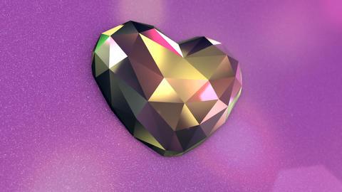 Beautiful Diamond Shaped Heart on a Pink Background Footage