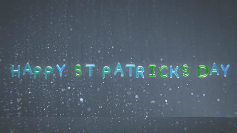 An Animation of Happy St Patrick's Day in Balloons Animation