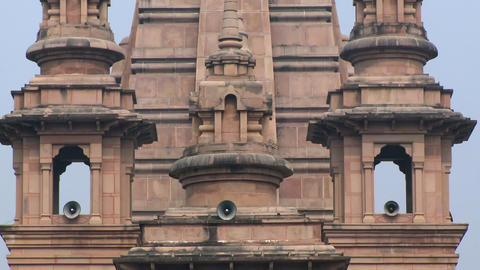 Closeup view of buddhist temple bell towers Live Action