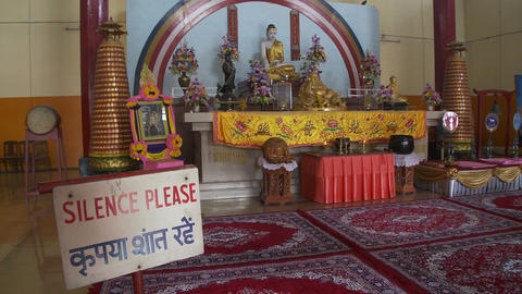 View of Buddhist temple altar Live Action