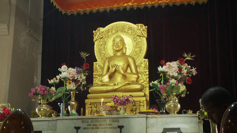 Closeup view of Buddhist temple altar Live Action