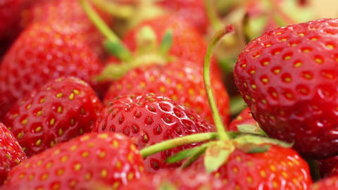 Red Strawberries Rotate stock footage