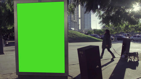City Billboards With Green Screen 0