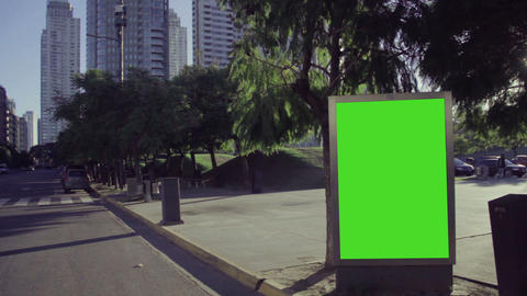 City Billboards With Green Screen 1