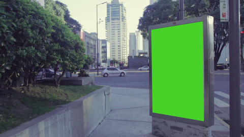 City Billboards With Green Screen 2