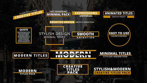 Minimal & Modern Titles After Effects Template