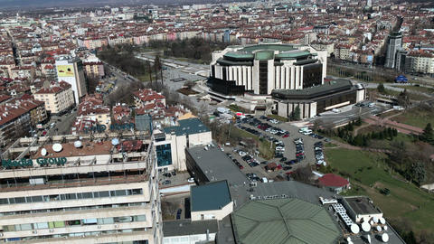 National Palace of Culture (NDK) building in Sofia Live Action